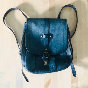 Frye Parker Leather Backpack in navy